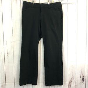 Gap stretch flare pants black size 14